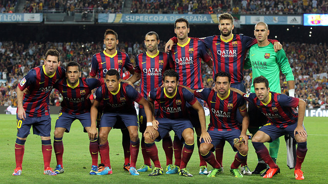 Un once con lleno de jugadores internacionales que podrían jugar el Mundial 2014 / FOTO: MIGUEL RUIZ — FCB