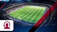 Camp Nou con icono de atención telefónica