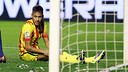 Neymar, en el partit contra l'Osasuna / FOTO: MIGUEL RUIZ - FCB