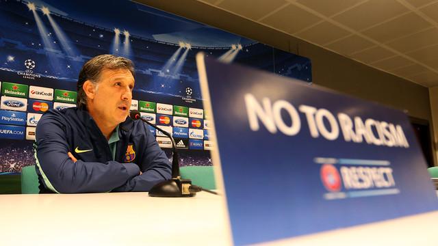 Martino in the San Siro press room / PHOTO: MIGUEL RUIZ - FCB