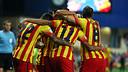 El Barça lluirà l'equipació de la senyera a San Siro / FOTO: MIGUEL RUIZ - FCB