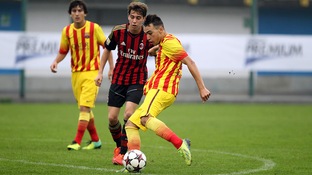 Munir in action. PHOTO: MIGUEL RUIZ - FCB