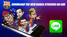 Image with the words download the new barça stickers on line