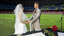 Wedding at the Camp Nou. PHOTO: VÍCTOR SALGADO-FCB.