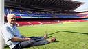 Evaristo de Macedo at the Camp Nou in 2007. PHOTO: FCB ARCHIVE