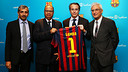This Friday, FC Barcelona unveiled a sponsorship agreement with Samba Financial Group / FOTO: FCB