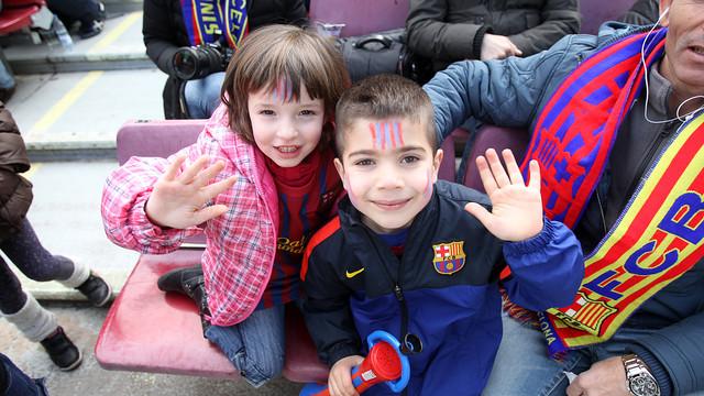 Plenty of young fans enjoyed the game with Getafe last season / PHOTO: MIGUEL RUIZ - FCB