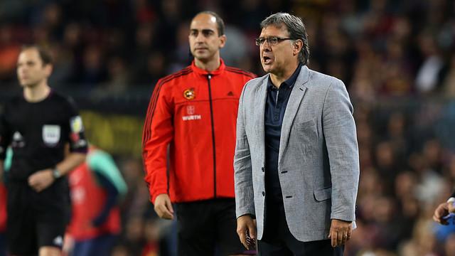 Martino, durant el partit. FOTO: MIGUEL RUIZ - FCB