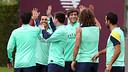 The Barça players training on Monday / PHOTO: MIGUEL RUIZ-FCB