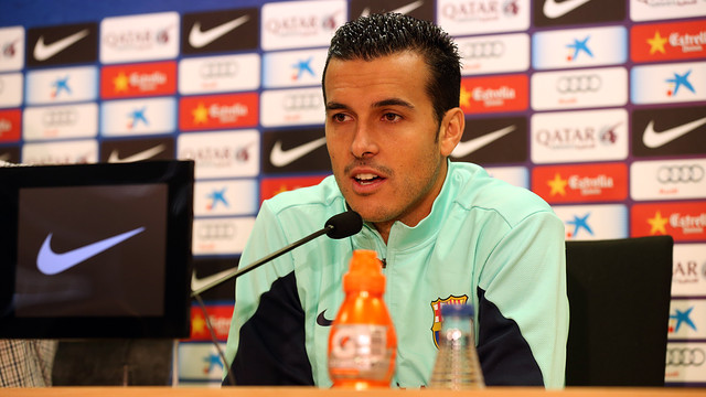 Pedro Rodríguez, en la sala de prensa de la Ciudad Deportiva / FOTO: MIGUEL RUIZ — FCB