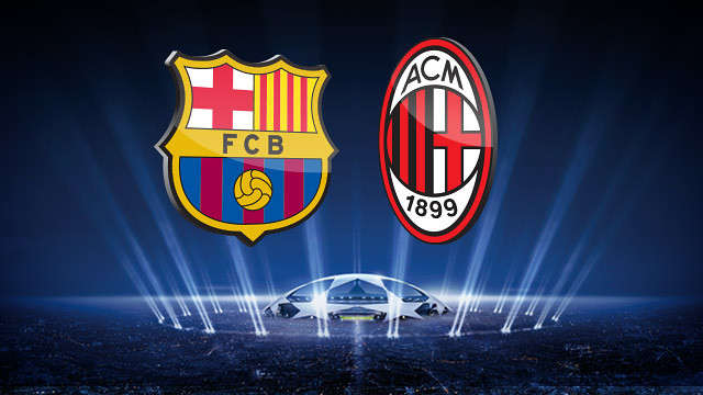 FC Barcelona and AC Milan play at the Camp Nou this Wednesday evening