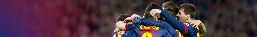FCB players celebrating a goal