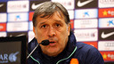 Martino in today's press conference / PHOTO: MIGUEL RUIZ-FCB