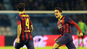 Bartra and Cesc, celebrating a goal in Vigo / PHOTO: MIGUEL RUIZ-FCB
