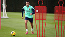 Xavi in training today / PHOTO: ARCHIVE FCB