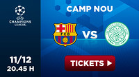 Advert for Barça v Celtic clash