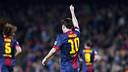 Messi celebrates scoring a goal / PHOTO: MIGUEL RUIZ-FCB