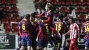 Joy for Barça B in Girona. PHOTO: EDDY KELELE-FCB.