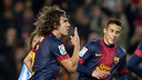 Puyol in a Cup game against  Malaga. PHOTO: MIGUEL RUIZ - FCB