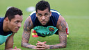 Dani Alves, during training / PHOTO: ARXIU FCB