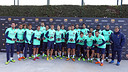 The Barça squad receive the official Barça watch from Seiko / PHOTO: MIGUEL RUIZ - FCB