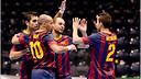 Barça Alusport celebrate a goal / PHOTO:  Ivana Hošková