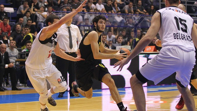 Abrines in action during the match