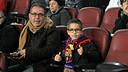 2.989 children under 8 watched the  Barça-Granada game today / PHOTO: MIGUEL RUIZ - FCB