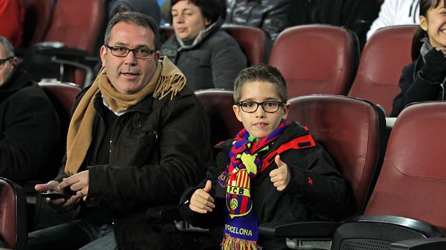 2.989 children under 8 watched the  Barça-Granada game today / PHOTO: MIGUEL RUIZ - FCB