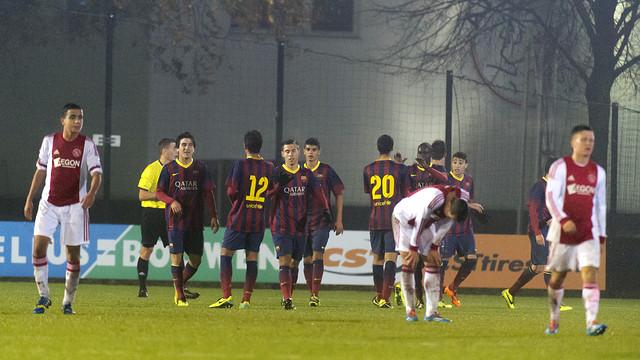 The Juvenil A team celebrating a goal / PHOTO: AJAX