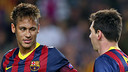 Neymar et Messi, face au Milan AC / PHOTO: MIGUEL RUIZ - FCB