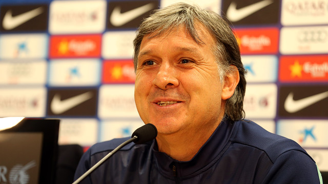 Gerardo Martino during his press conference. PHOTO: MIGUEL RUIZ-FCB.