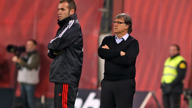 Martino, during the game in Bilbao. PHOTO: MIGUEL RUIZ - FCB