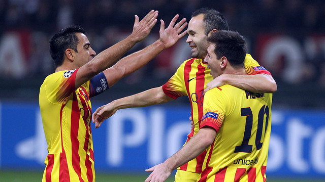Xavi and Iniesta are already shortlisted, and Messi will probably be joining them on Monday / PHOTO: MIGUEL RUIZ-FCB