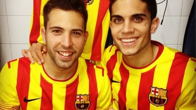 Jordi Alba and Marc Bartra / PHOTO: @MarcBartra91