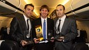 The three finalists Golden Ball 2010 / PHOTO: MIGUEL RUIZ-FCB