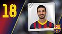 Imatge oficial de Gurbindo amb la samarreta del FC Barcelona