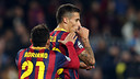 Tello celebrating the 6-1 / PHOTO: MIGUEL RUIZ-FCB