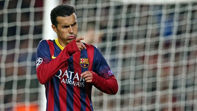 Pedro goal against Celtic. PHOTO: MIGUEL RUIZ-FCB.