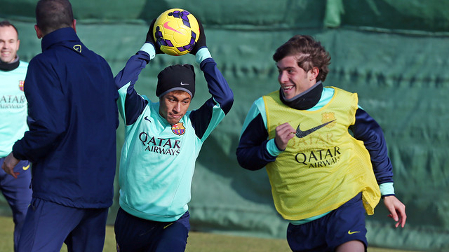 Neymar and Sergi Roberto in an archive image / PHOTO: MIGUEL RUIZ - FCB