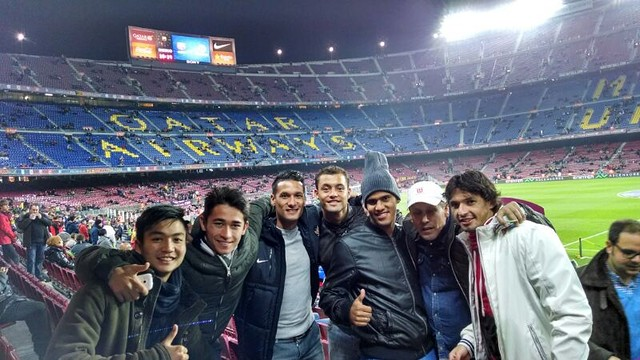 Mitra Kukar at camp nou