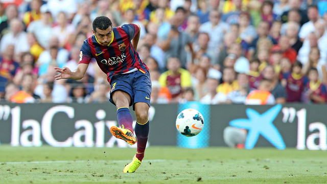 Pedro was one the the best players against Cartagena in the first leg / PHOTO: MIGUEL RUIZ-FCB
