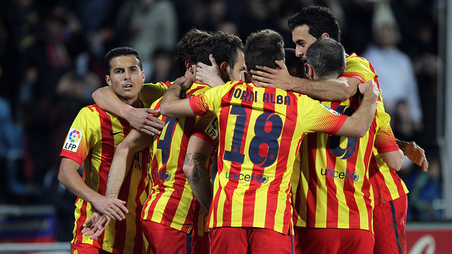 Jordi Alba featured against Getafe / PHOTO: MIGUEL RUIZ - FCB