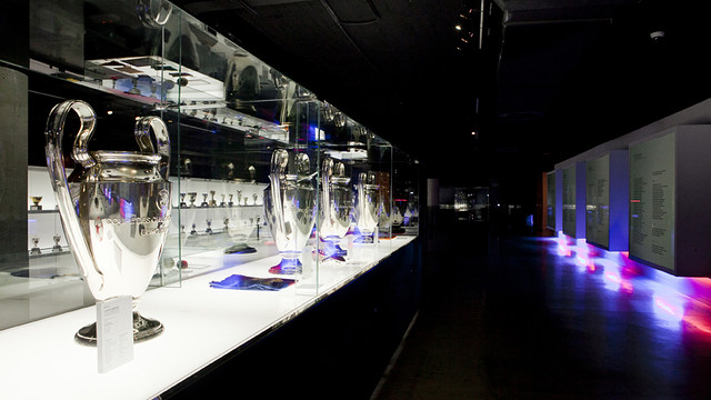 Trofeos en el museo