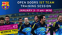 Open doors training session