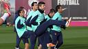 Els jugadors de la selecció catalana s'han incorporat a la dinàmica del primer equip / FOTO: MIGUEL RUIZ-FCB