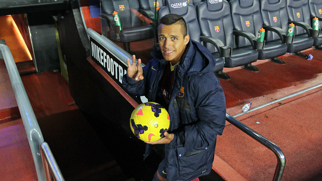 Alexis with the match ball.