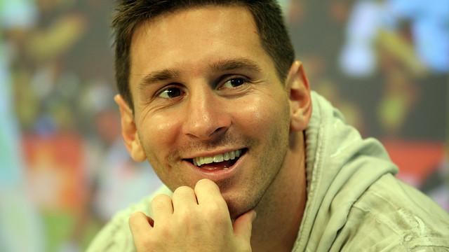 Leo Messi on Barça TV's 'El Marcador' / PHOTO: MIGUEL RUIZ - FCB