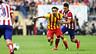 Xavi and Villa in the Supercup match