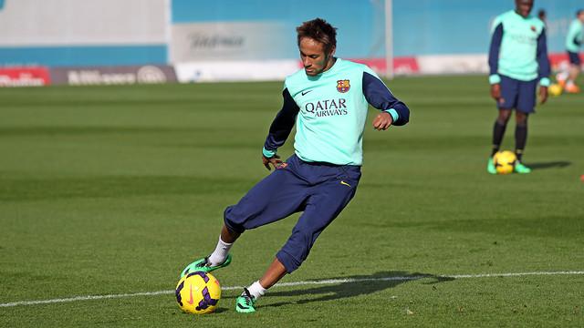 Neymar, during trainng. PHOTO: MIGUEL RUIZ - FCB